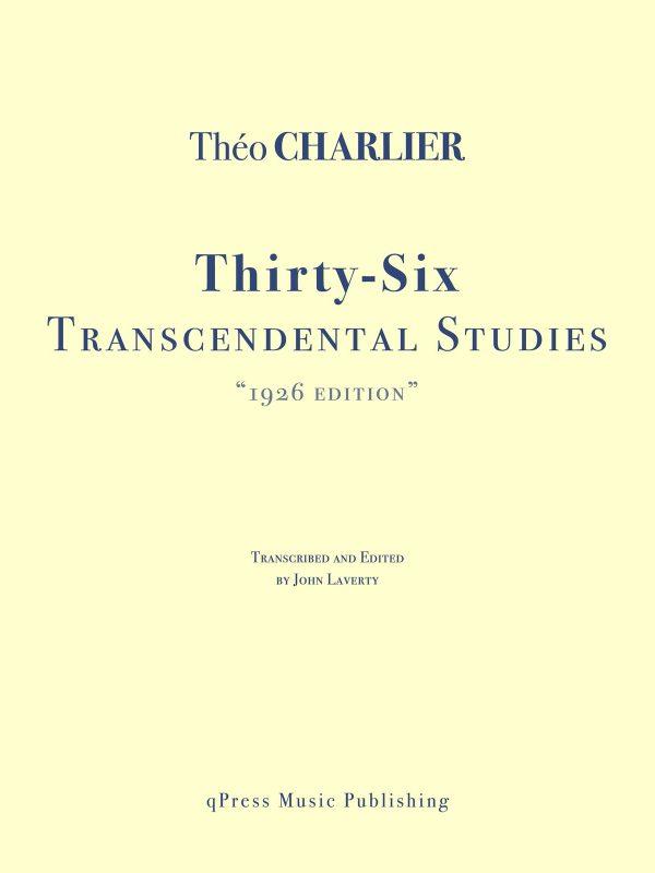 Charlier, 36 Etudes Transcendantes (1926 Edition)-p01