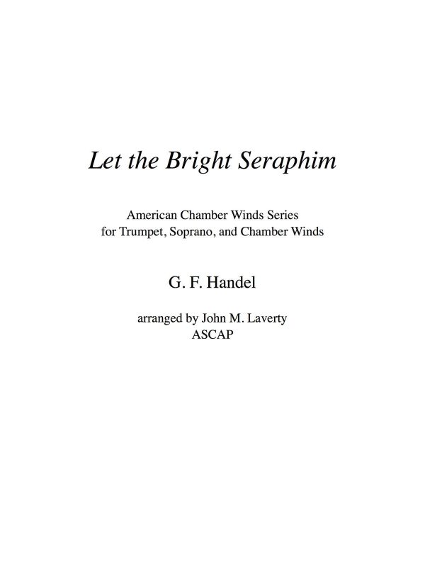Handel, Let the Bright Seraphim Winds 5