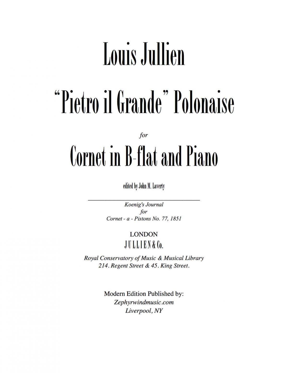 Jullien, Pietro il Grande Polonaise