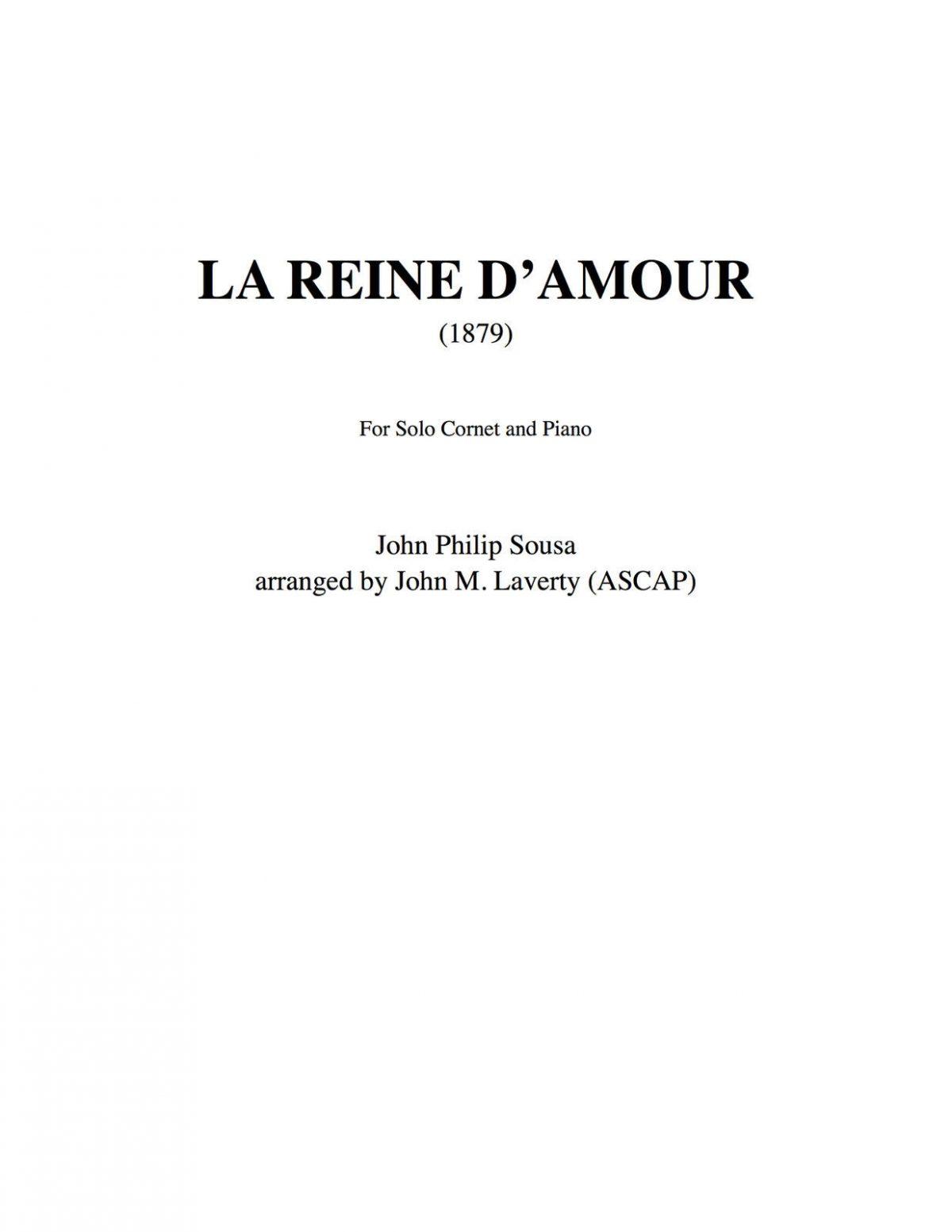 Sousa, La Reine Cornet and Piano-1