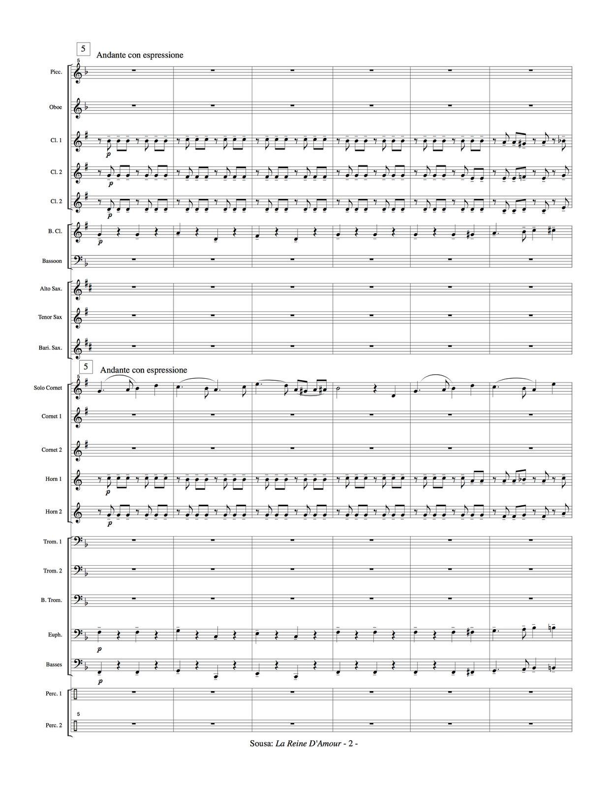 Sousa, La Reine D'Amour Sousa Band 3
