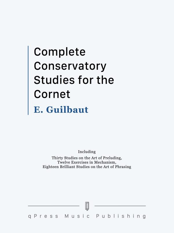 Guilbaut, Complete Conservatory Studies for the Cornet-p01