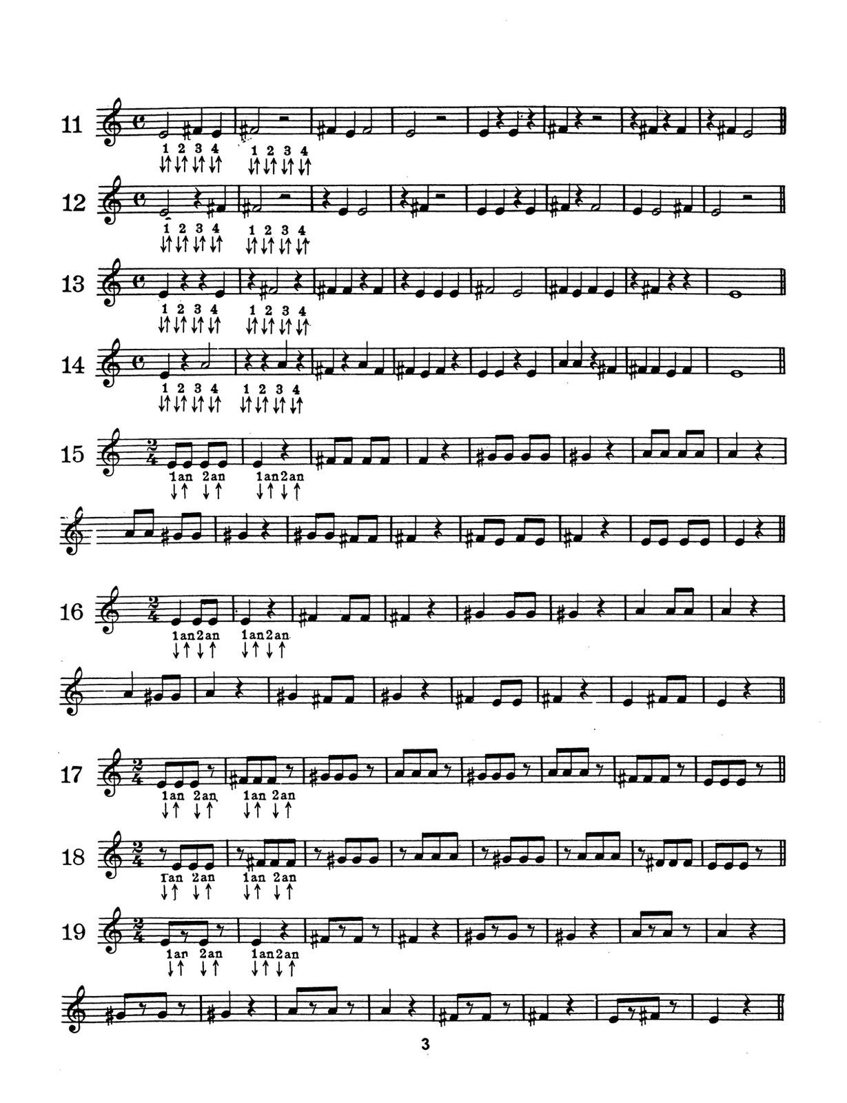 Yaus, Easy Steps to Rhythm, Bb 3