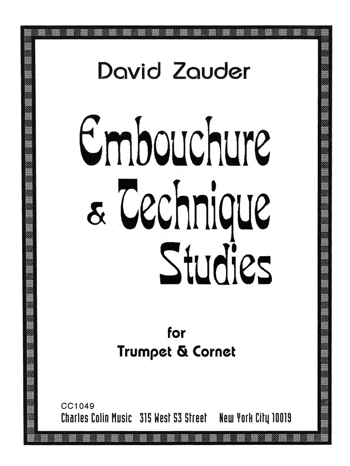 Zauder, Embouchure and Technique Studies
