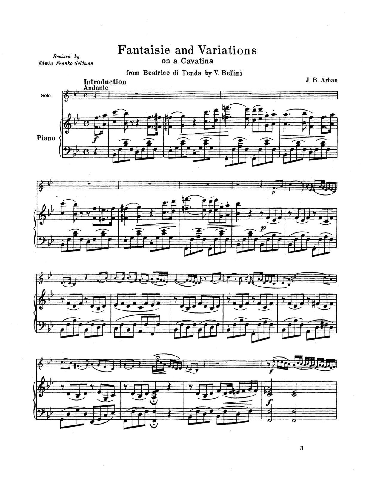 Arban, Fantasies and Airs Piano Accompaniment 4