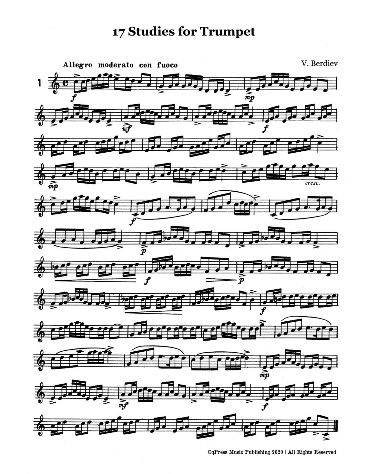 Berdiev, 17 Studies for Trumpet-p02