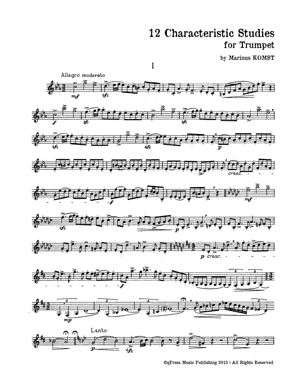 Komst, 12 Characteristic Studies-p02