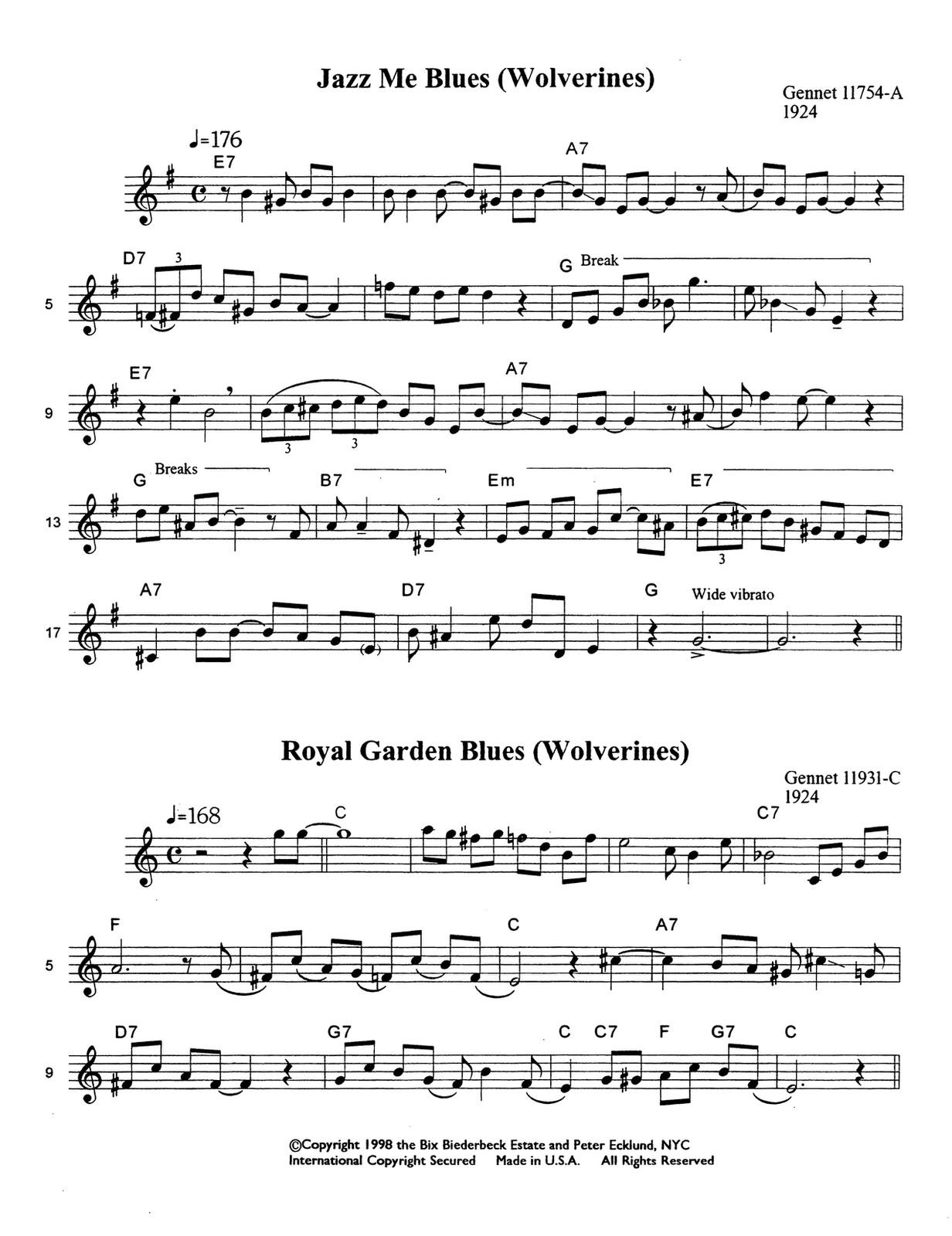 Beiderbecke, Bix, Great Cornet Solos of Bix 3