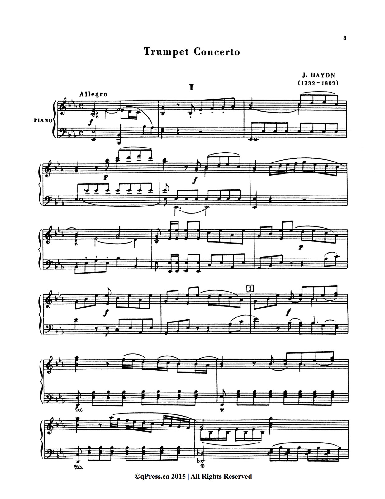 J. Haydn: Trumpet Concerto in E flat, Hob.:VIIe/1