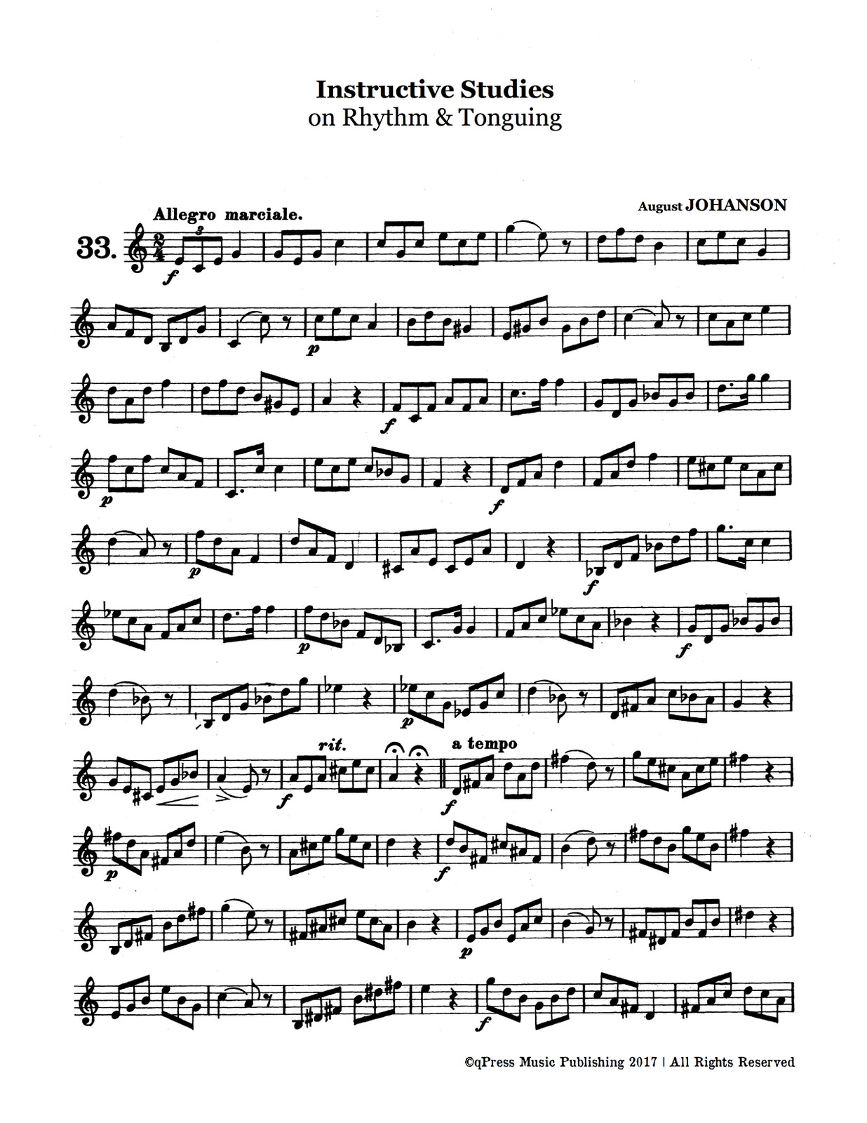 Johanson, Instructive Studies on Rhythm and Tonguing-p03