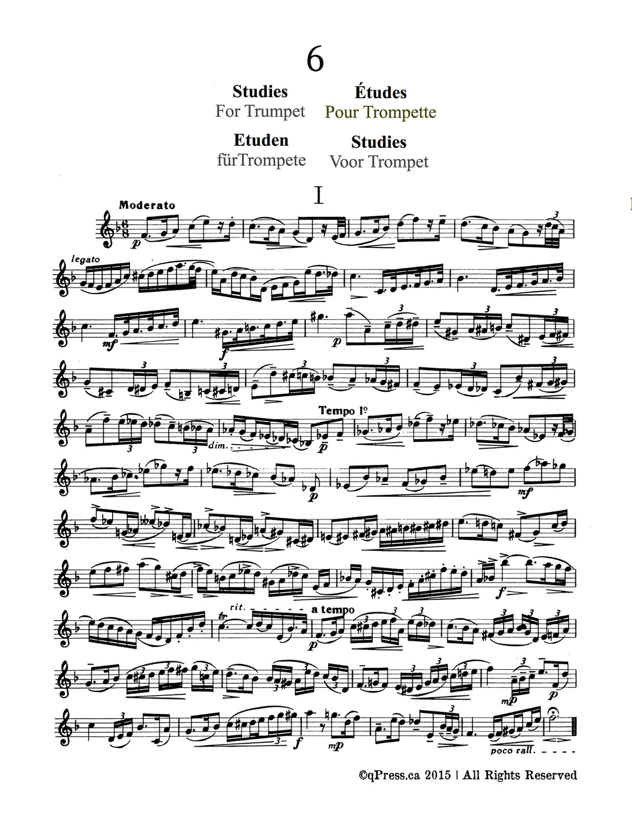 Nuten, 6 Studies for Trumpet 2
