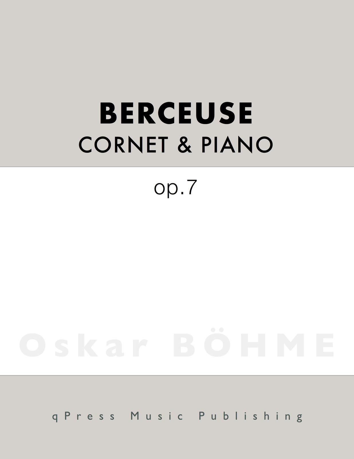 Bohme, Berceuse for Trumpet and Piano-p1