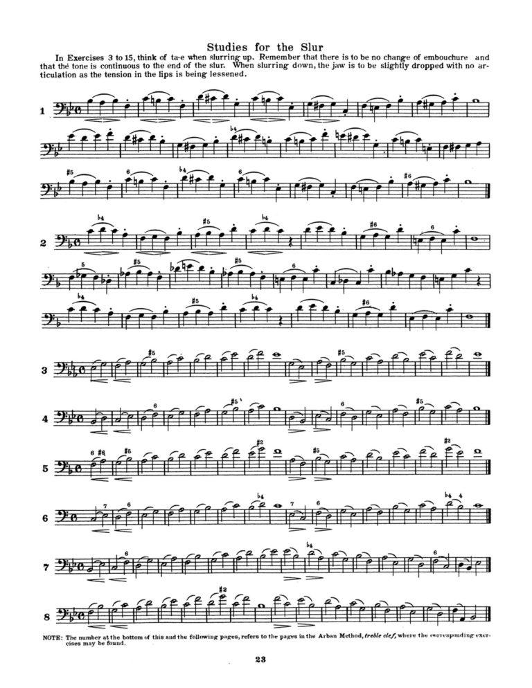 Prescott Technic System for Arban (Trombone)