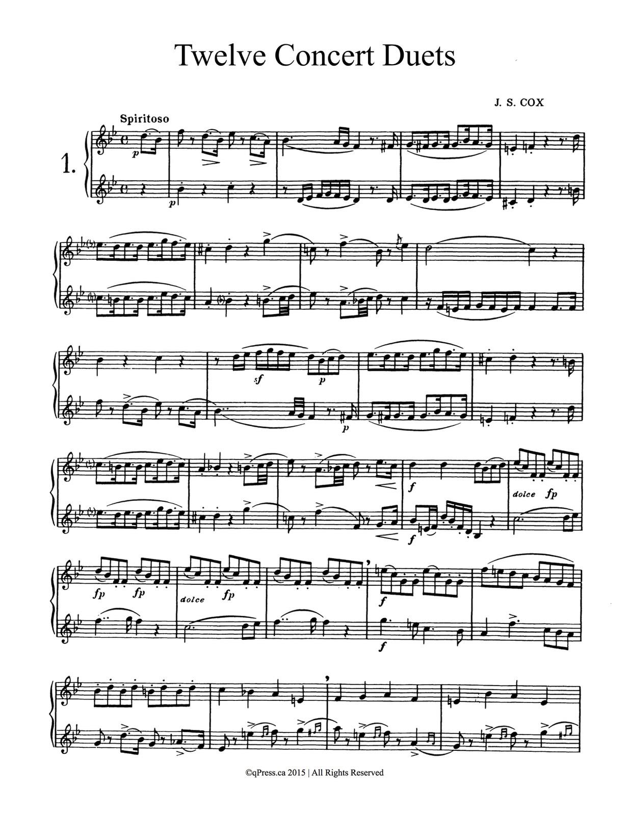 Cox, JS Twelve Concert Duets 3