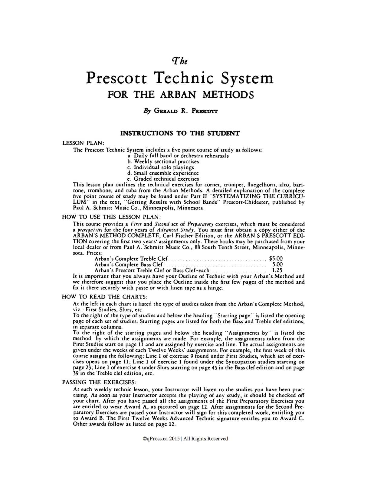 Prescott, Technic System, Arban Part 1 2