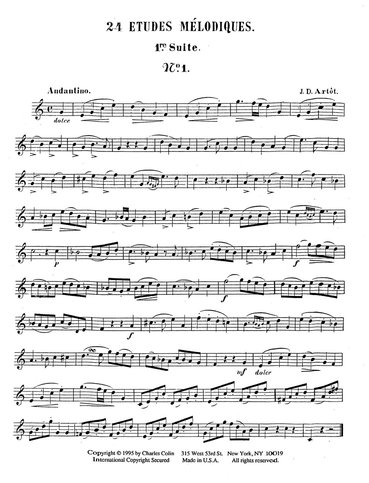 Artot, 24 Etude Melodiques 2