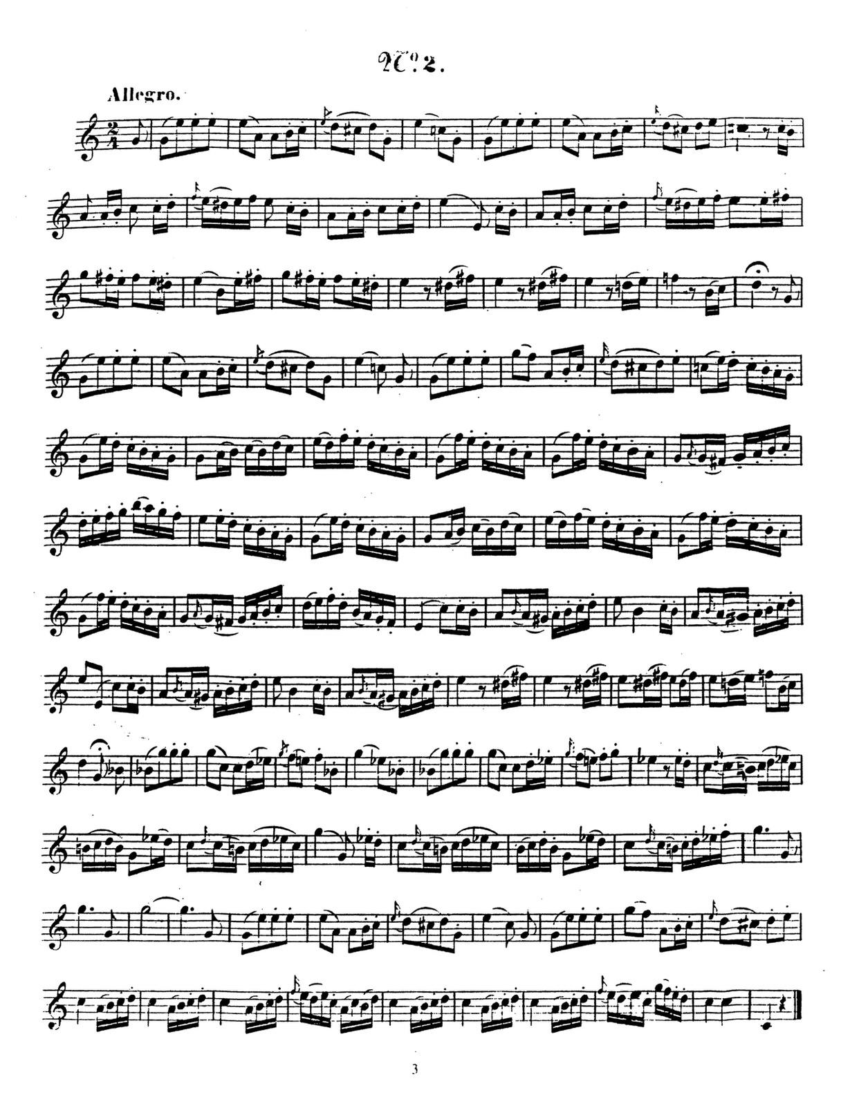 Artot, 24 Etude Melodiques 3