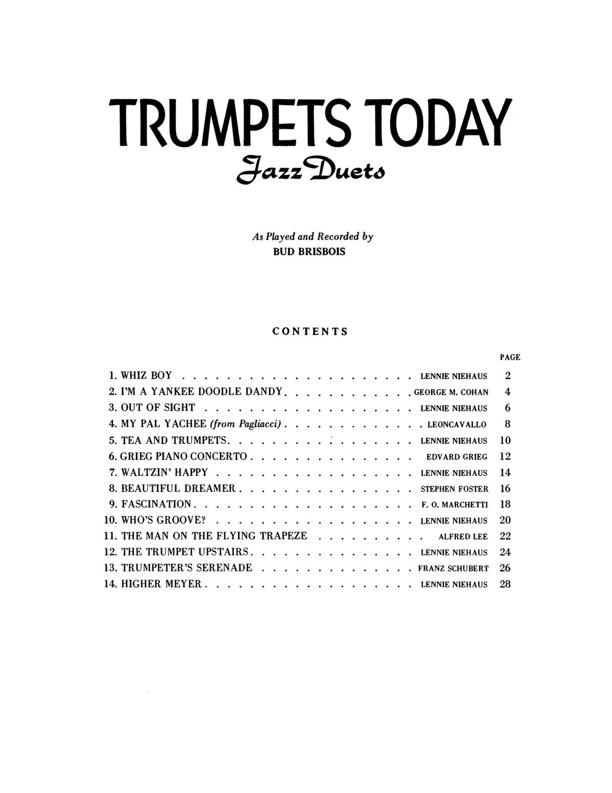 Brisbois, Trumpet Today, Jazz Duets 2