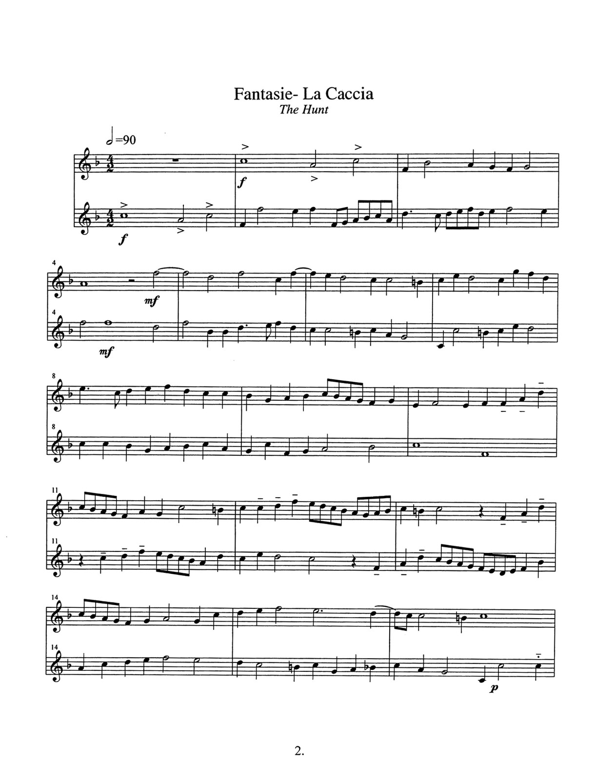 Roper, Elizabethan Duets for Two Trumpets 4