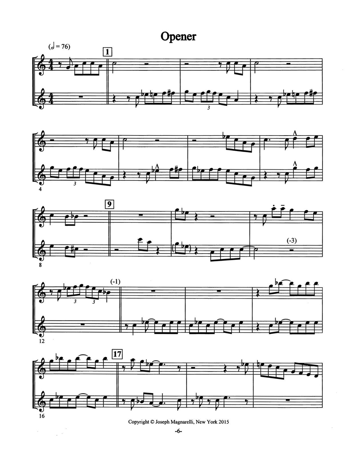 Magnarelli, Joe, Jazz Trumpet Duets 3