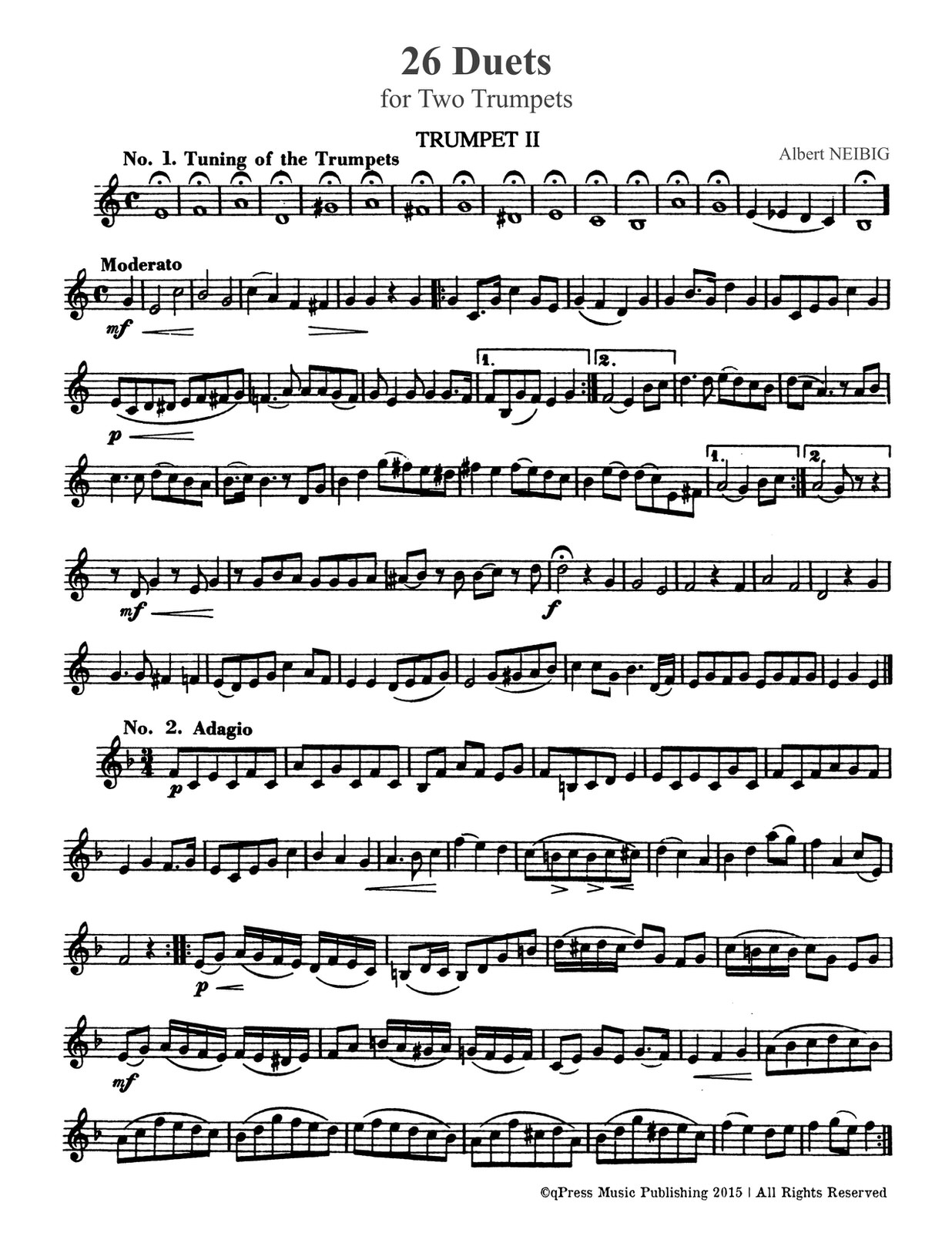 Neibig, Albert 26 Duets (Trumpet 2)