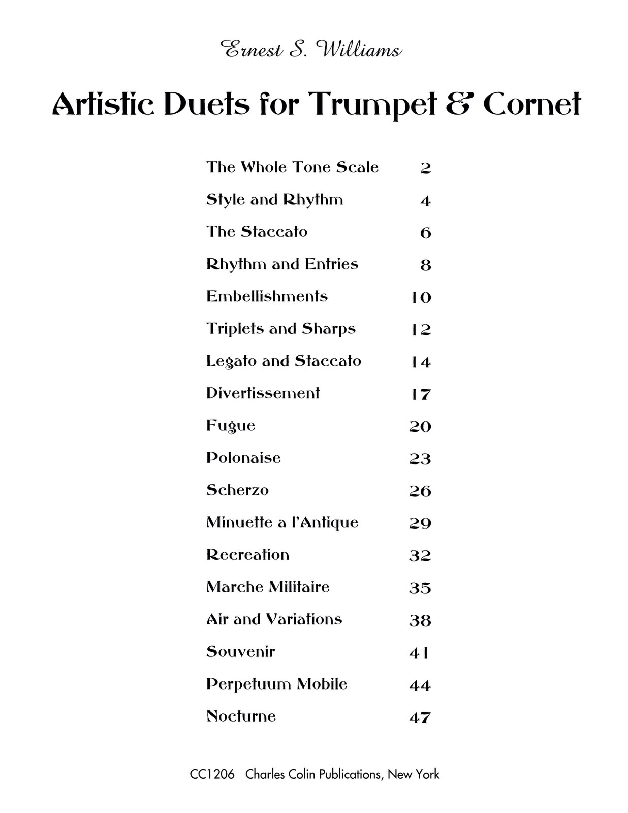 Williams, Artistic Duets for Trumpet and Cornet 2