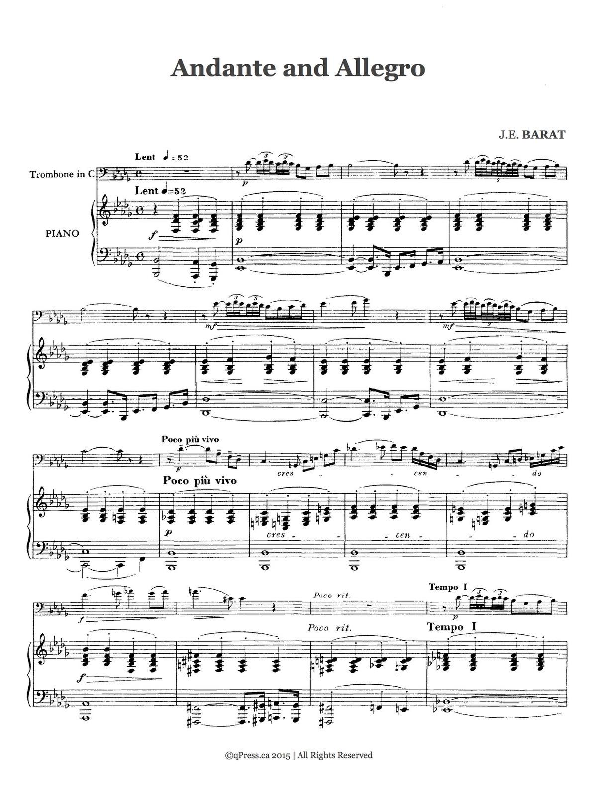 Barat, Andante and Allegro 3