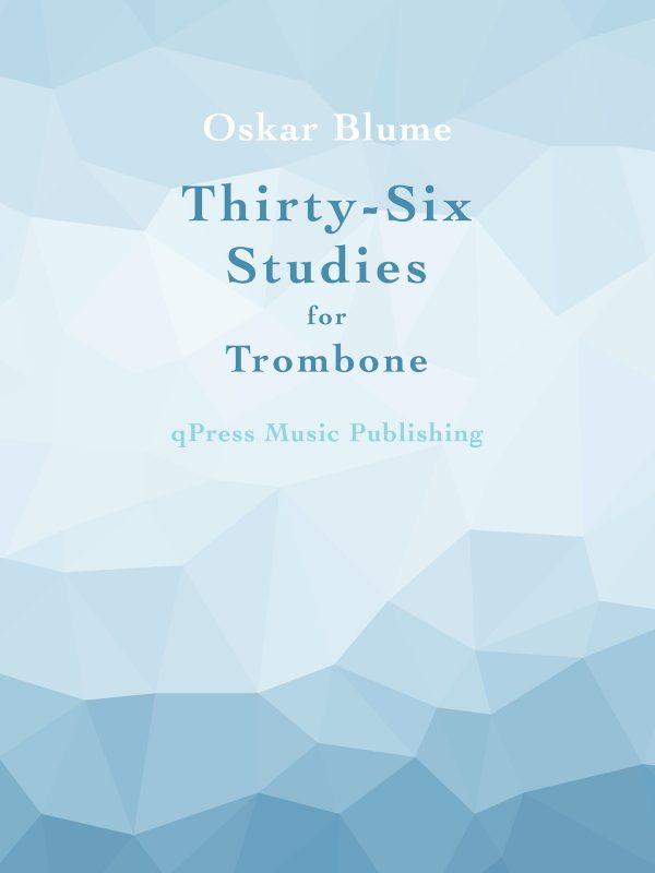 Blume, 36 Studies for Trombone-p01