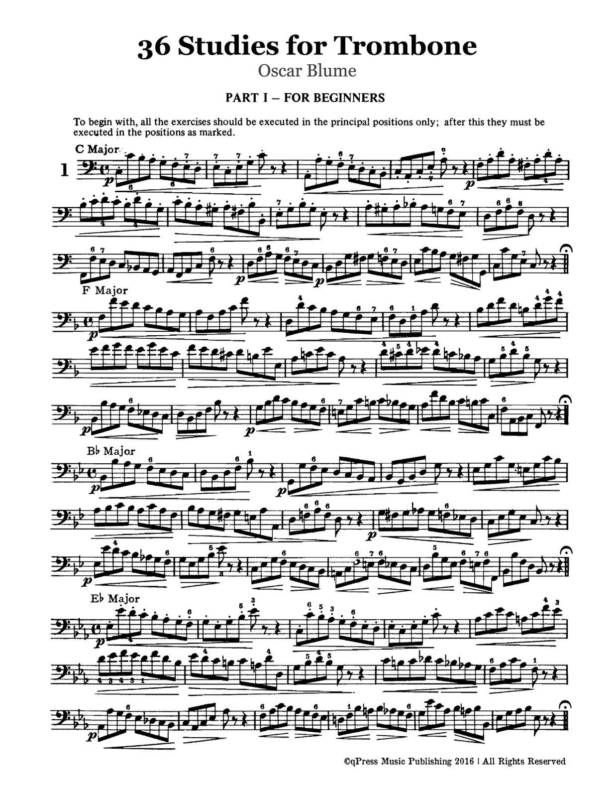 Blume, 36 Studies for Trombone-p03