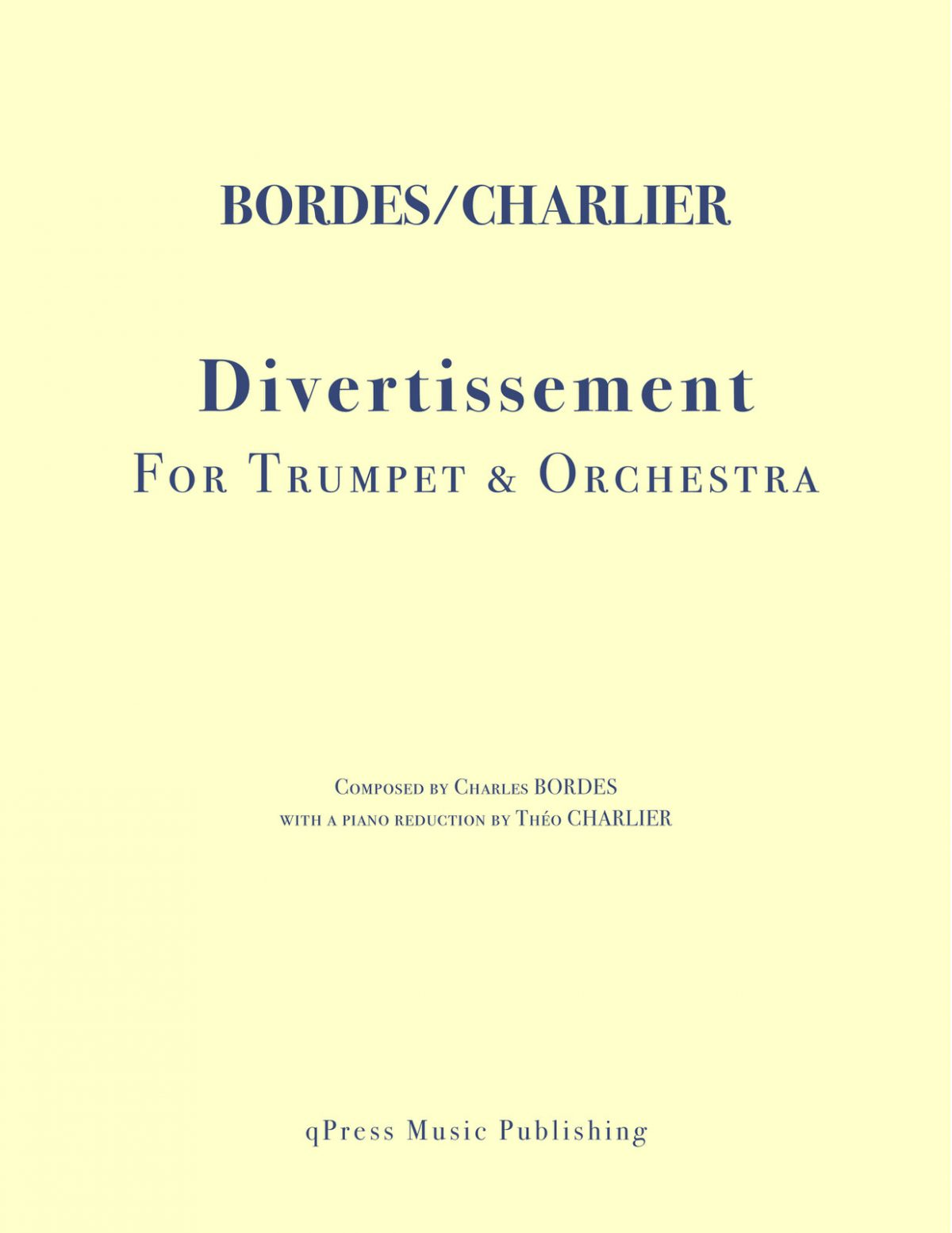 Bordes, Divertissement for Trumpet and Piano
