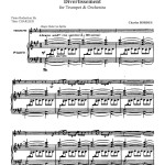 Bordes, Divertissement for Trumpet and Piano 3