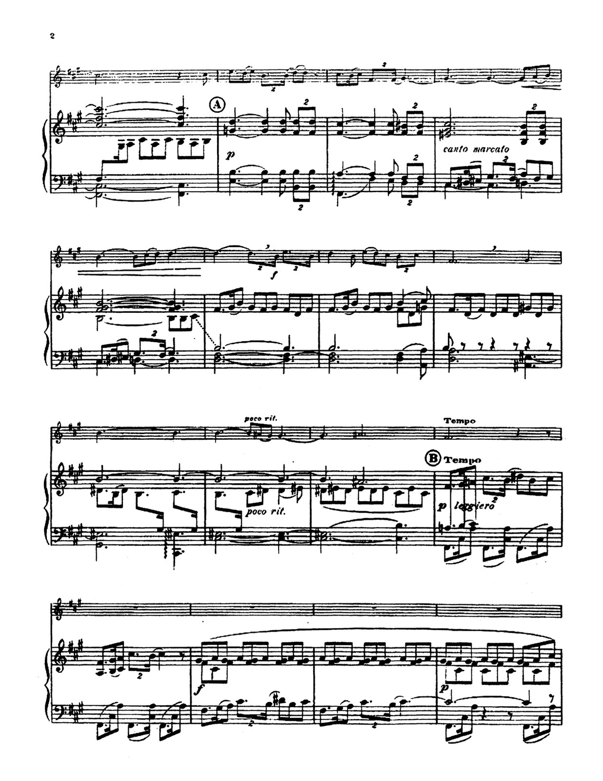 Bordes, Divertissement for Trumpet and Piano 4
