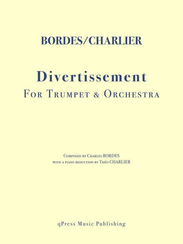 Bordes, Divertissement for Trumpet and Piano-p01