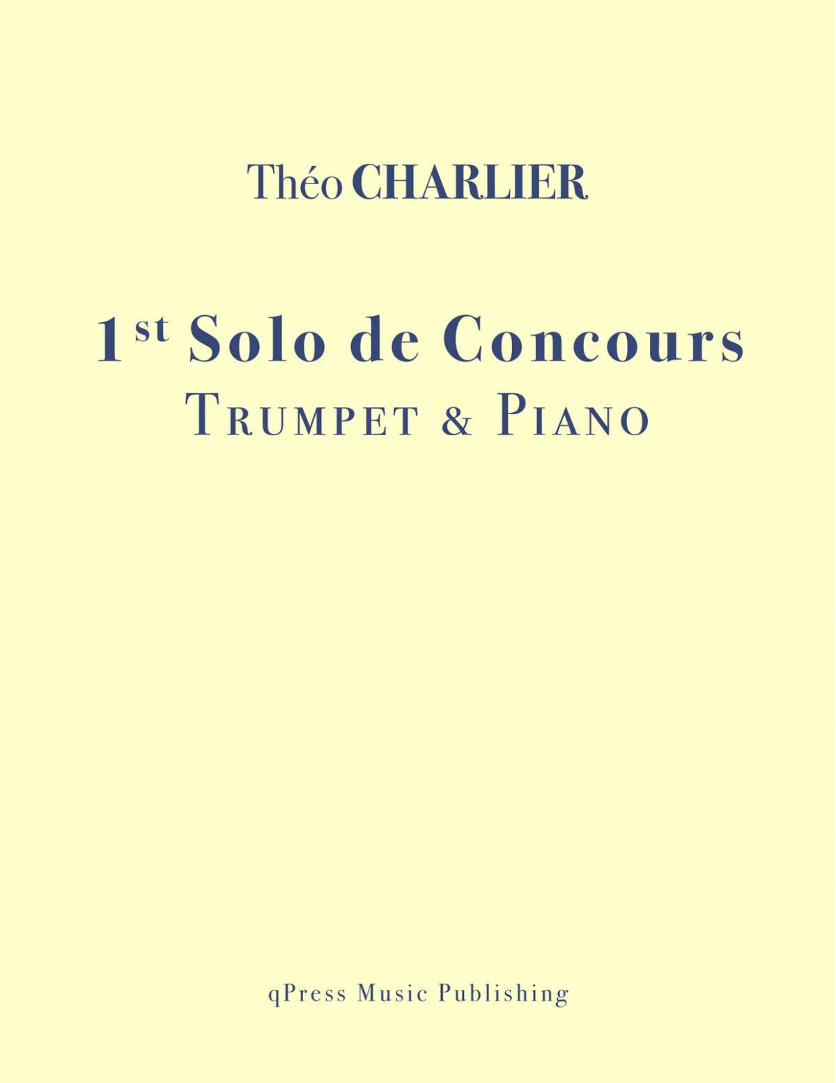 Charlier, 1st Solo de Concours