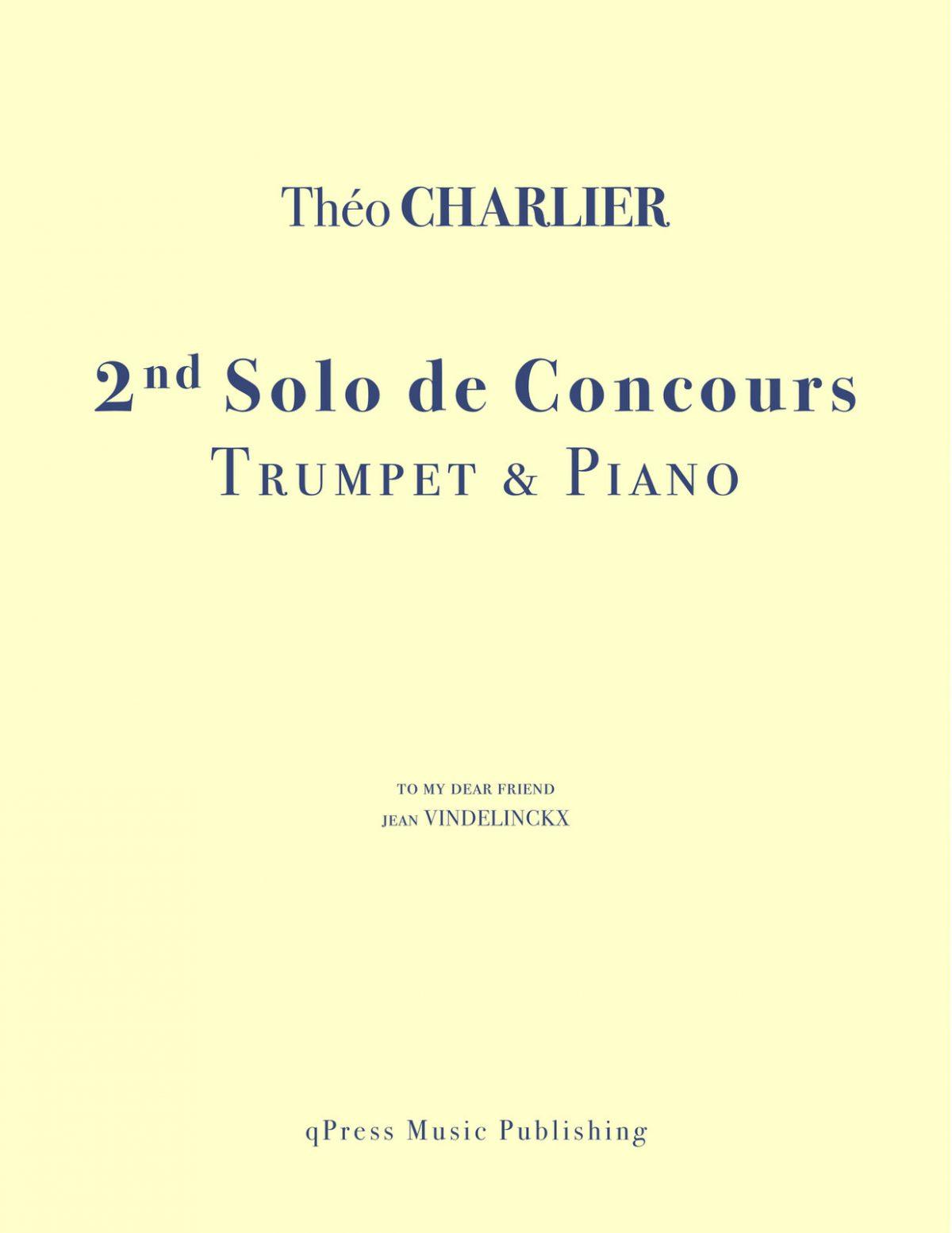 Charlier, 2nd Solo de Concours
