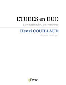 Couillaud, Etudes en duo