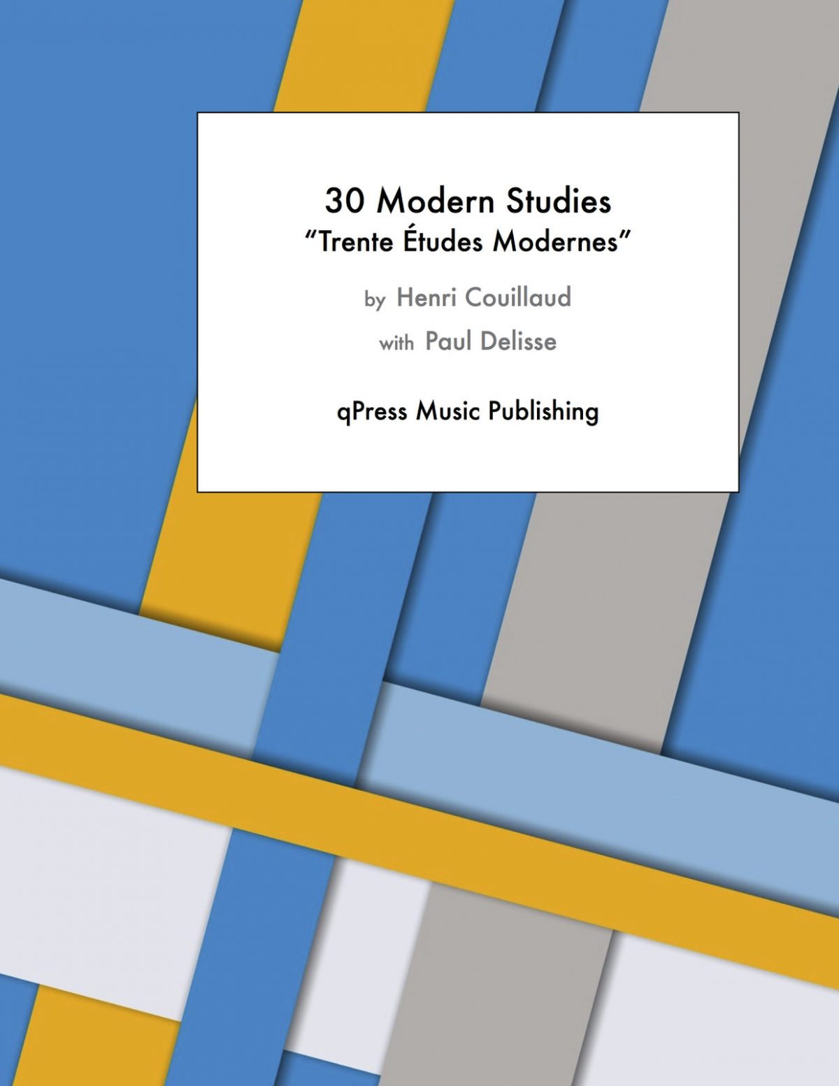 Couillaud, Trente Etudes Modernes