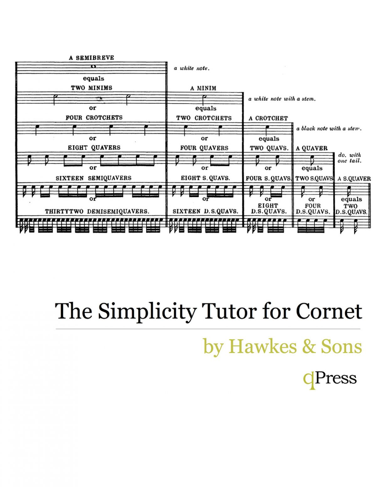 Hawkes and Son's, The Simplicity Tutor for Cornet