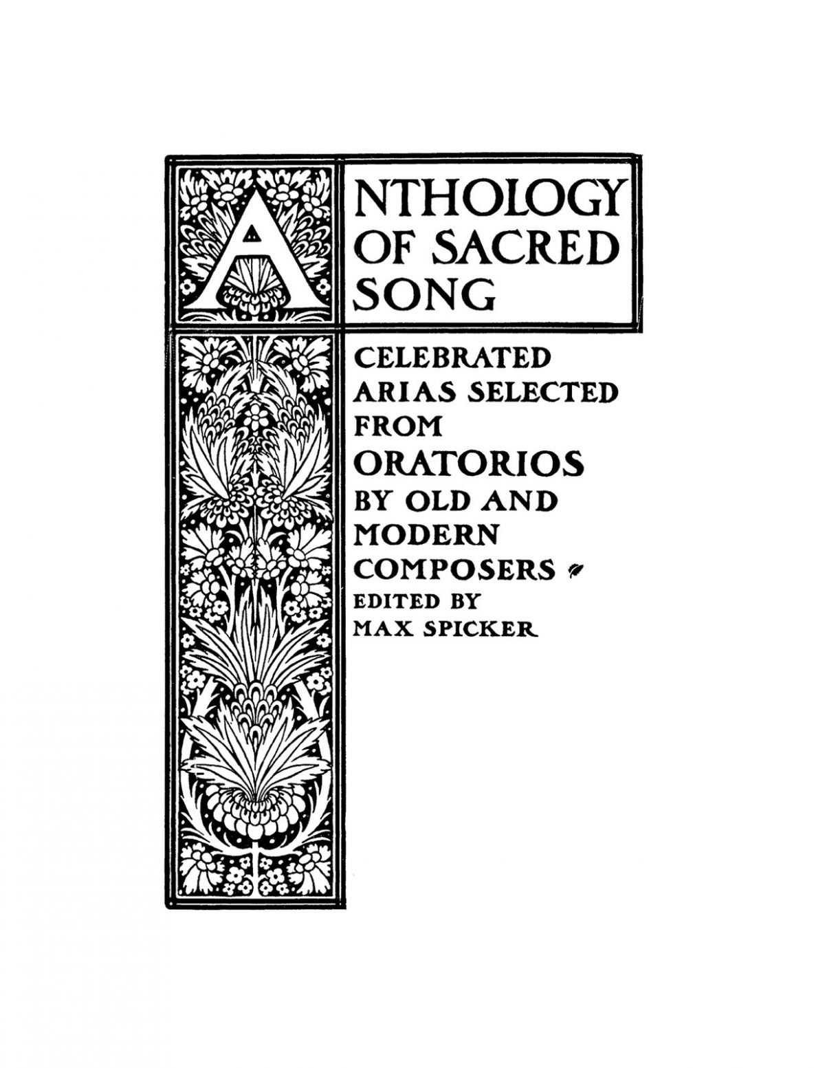 Spicker, Anthology of Sacred Songs for Middle Voice