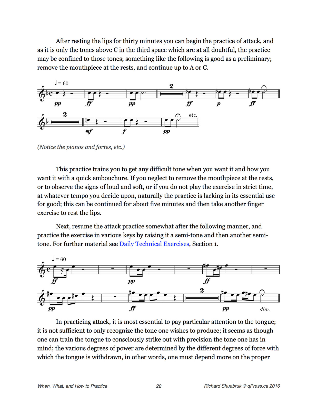 """Shuebruk, """"The Cornet Player's Guide"""" or """"When, What, and How to Practice"""""""