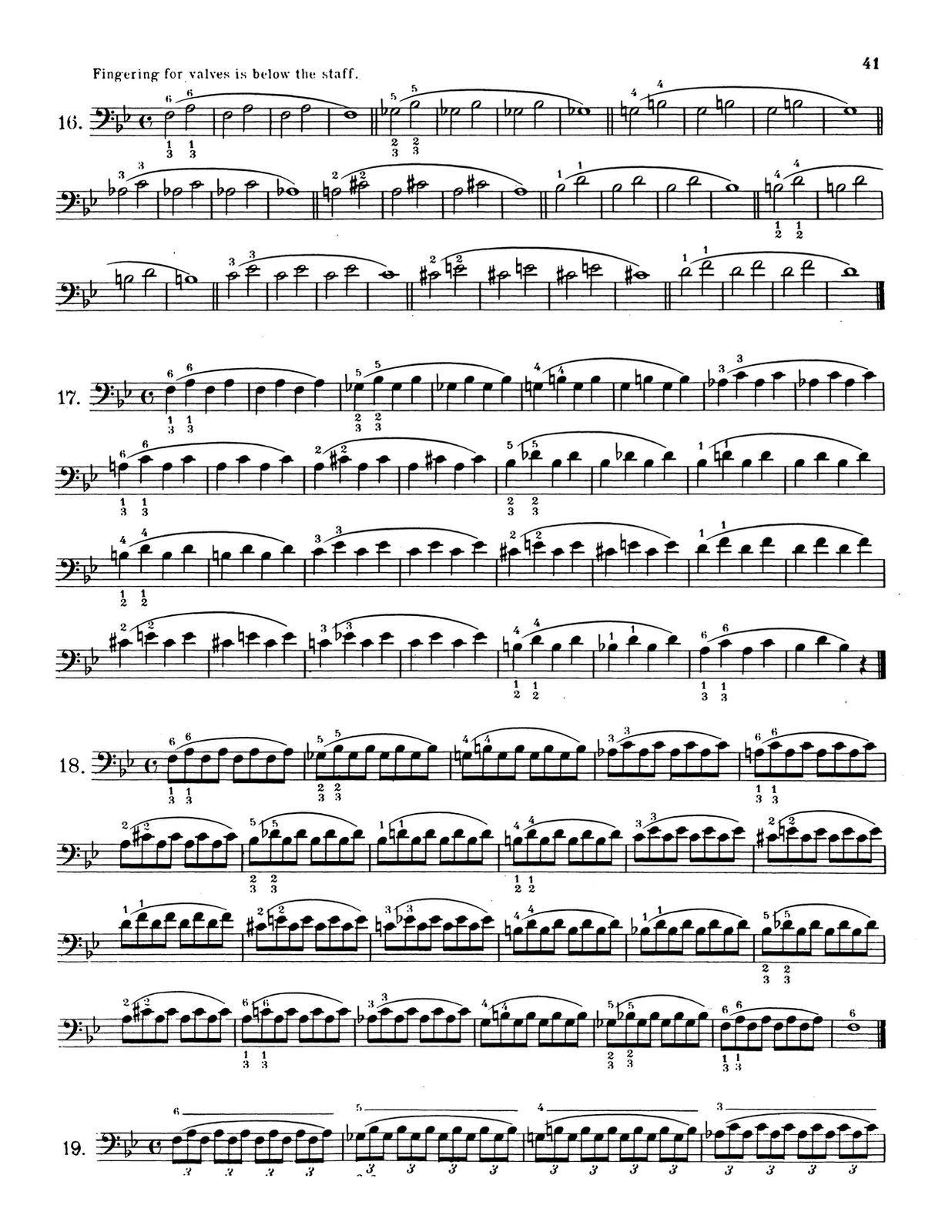 Eby, Arban's Method in Bass Clef for Trombone Complete 6
