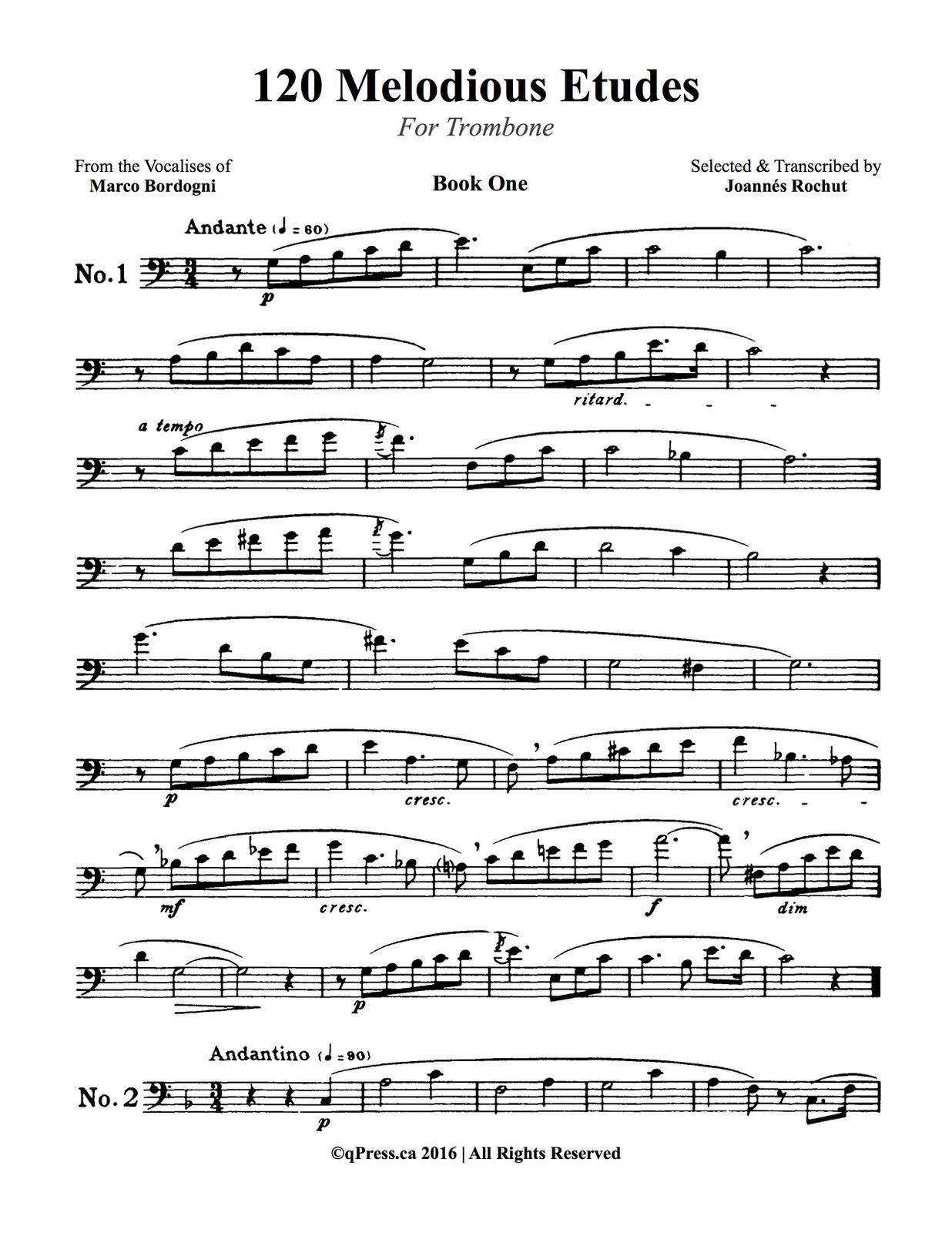 Rochut, Melodious Etudes Book 1 2