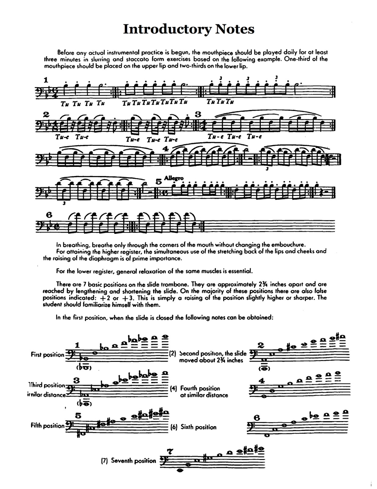 Schlossberg, Daily Drills and Technical Exercises for Trombone 3