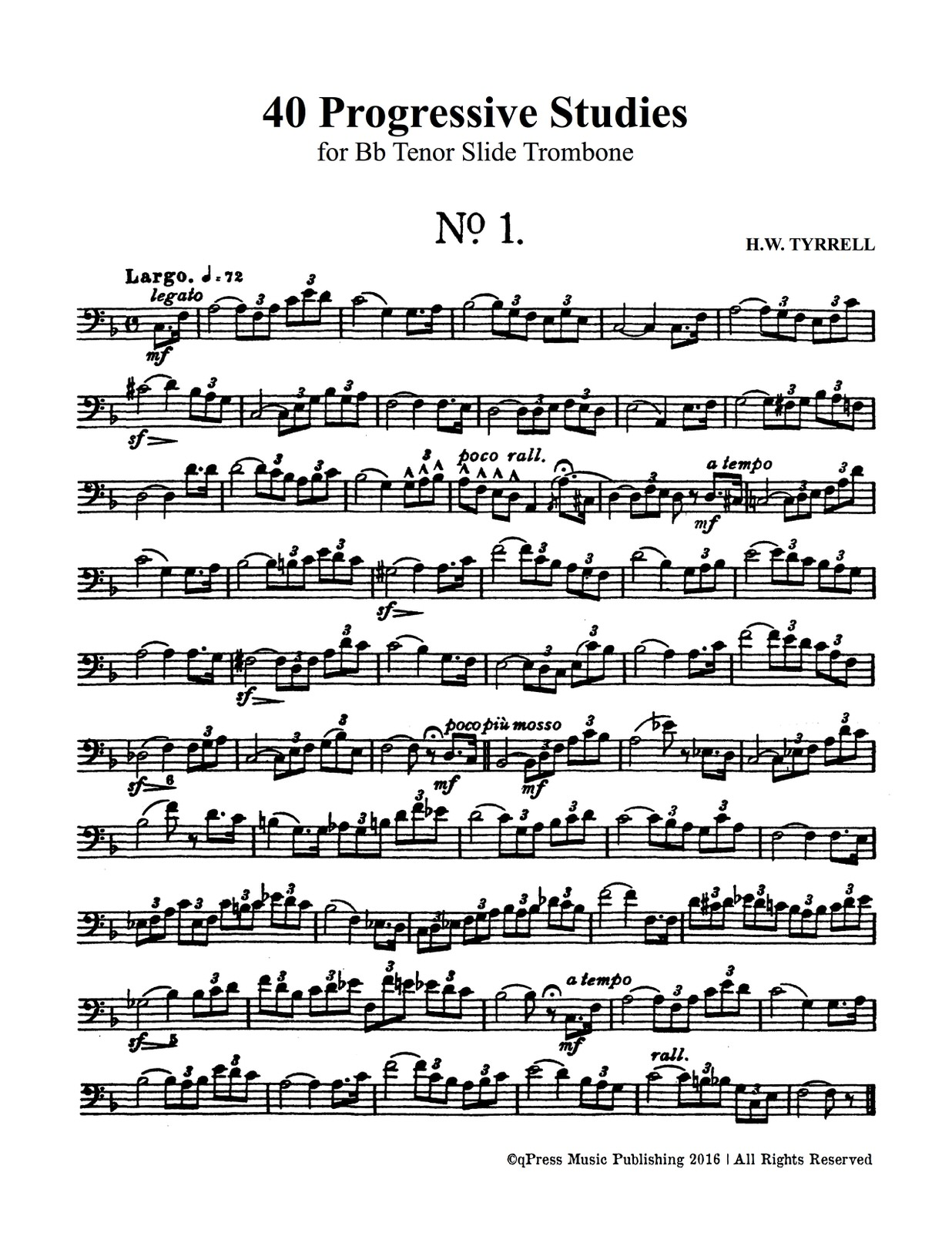 Tyrrell, 40 Progressive Studies for Trombone-p03