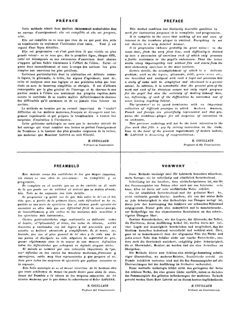 Lafosse's Complete Method of Slide Trombone