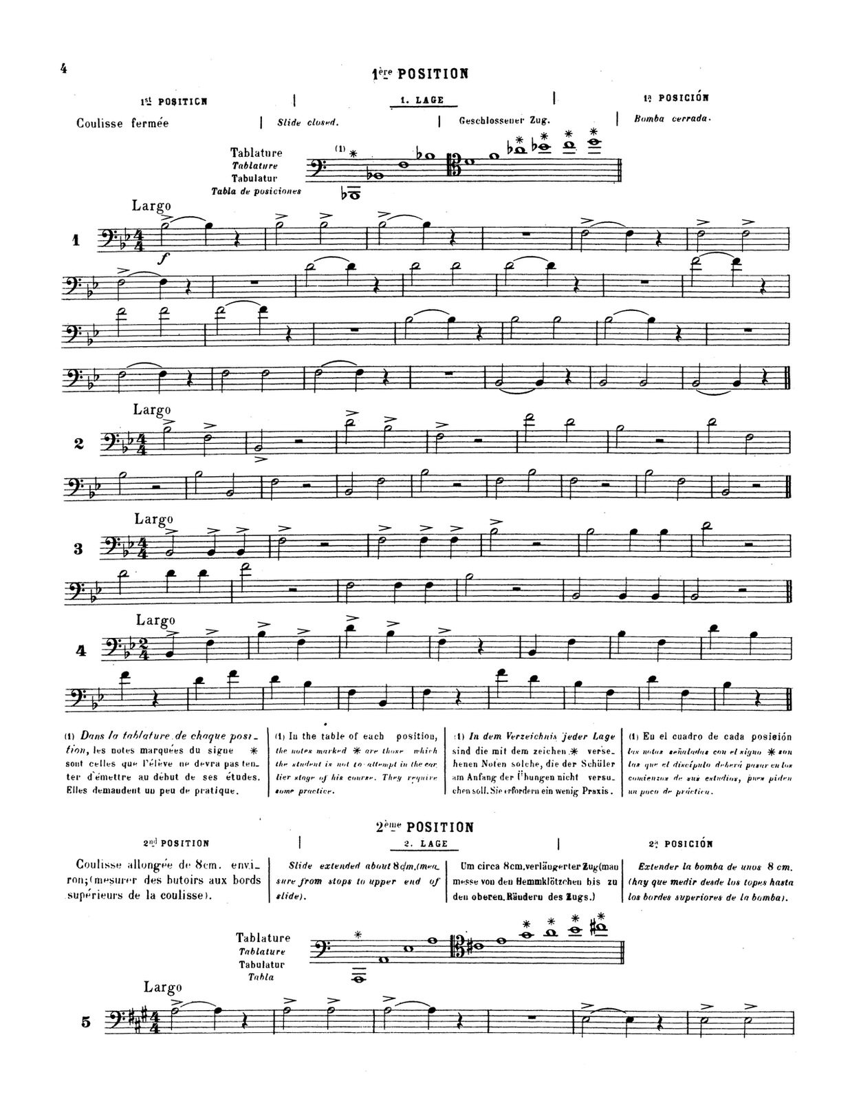 Lafosse, Andre, Complete Method of Slide Trombone 4