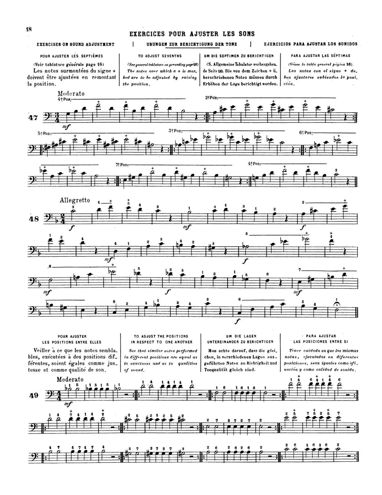 Lafosse, Andre, Complete Method of Slide Trombone 5