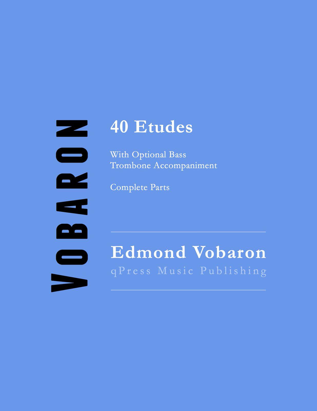 Vobaron 40 Etudes Complete Parts Cover-p1
