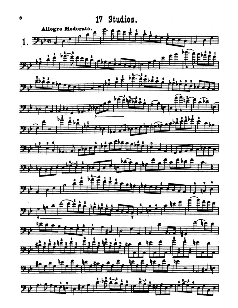 4 Lessons and 17 Studies for Trombone