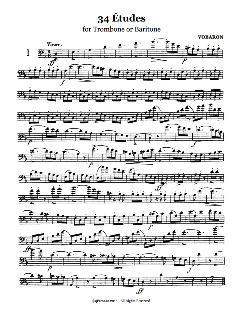 34 Etudes and 3 Duets for Trombone